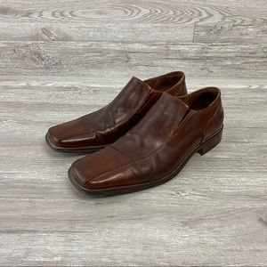 Aldo Vero Cuoio Italian Brown Leather Loafers